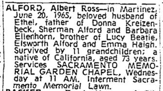 CALIFORNIA OBITUARIES