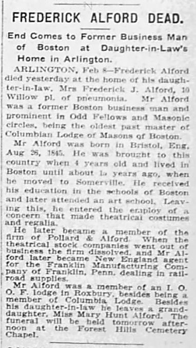 Massachusetts Obituaries