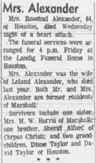 TEXAS OBITUARIES, K-Z